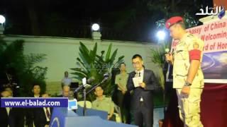 بالفيديو والصور.. تكريم قوات الجيش المشاركة في العرض العسكري الصيني