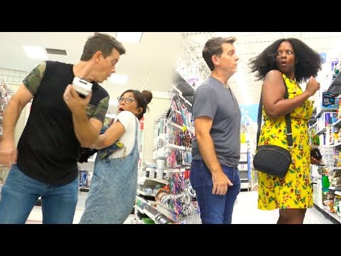 Sneaking Up On People - SCARING PEOPLE OF WALMART! - Funny Video