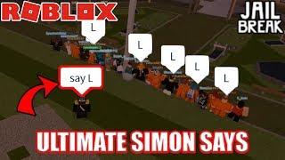 CRAZIEST Simon Says in Roblox Jailbreak