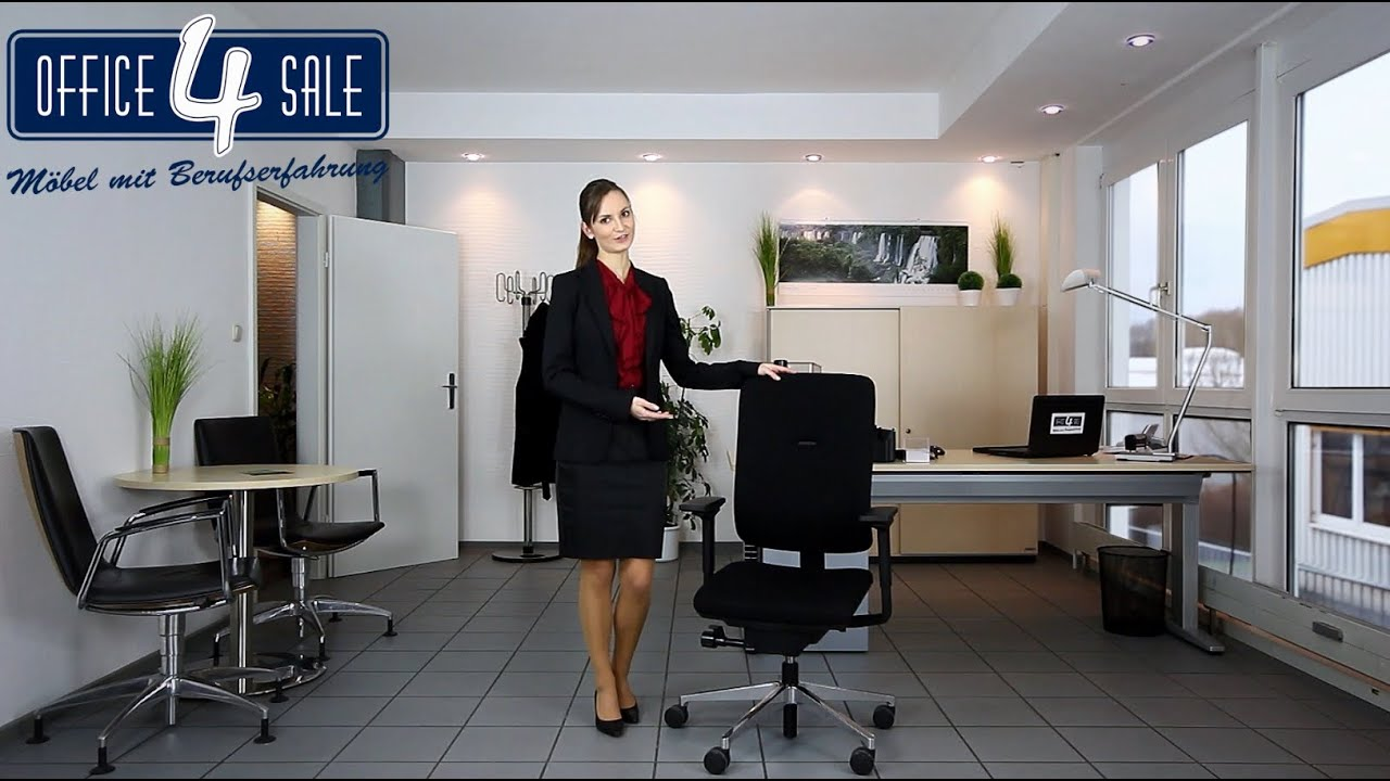 office 4 sale ratgeber serie teil 1 ergonomische b rostuhleinstellung youtube. Black Bedroom Furniture Sets. Home Design Ideas