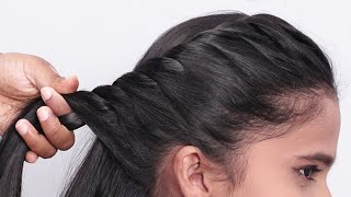 Simple party wear hairstyle for short hair  Short hair hairstyle for girl  Girl hair style Fashion