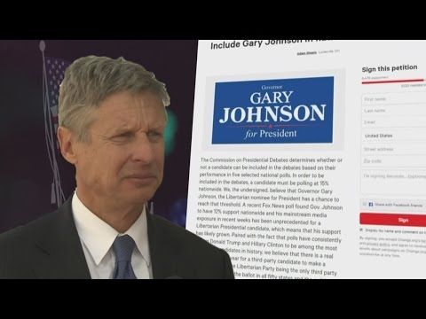 Petitions push for presidential debates to include Gary Johnson