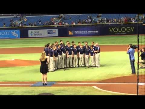 Academy at the Lakes Men's Chorus Performing the National Anthem