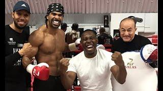 Dizzee Rascal visits David Haye in gym ahead of Tony Bellew rematch