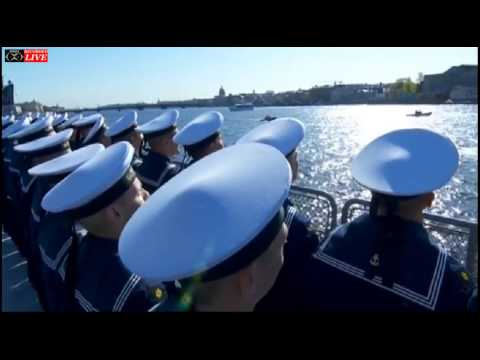 Russia Military Parade - Victory Day 70 - St. Petersburg Naval Salute May 9,2015