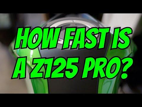 Kawasaki Z125 Pro - Top Speed Run