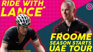 Ride w/ Lance ARMSTRONG in MALLORCA , NEW ZWIFT HACK? & CHRIS FROOME COMMITS TO UAE TOUR!