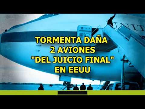 """TORMENTA DAÑA 2 AVIONES DEL """"JUICIO FINAL"""" EN EEUU"""