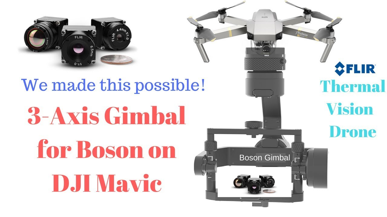 3-Axis Gimbal for FLIR Boson 640/320 on DJI Mavic Pro Now Possible! Change  Color Palette on-the-fly
