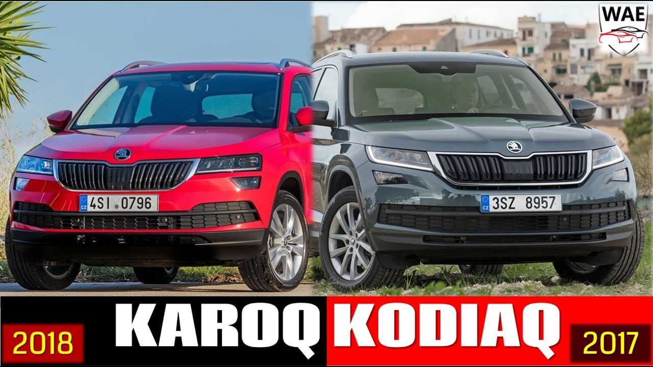 2018 skoda karoq vs 2017 skoda kodiaq what is the difference technical comparison youtube. Black Bedroom Furniture Sets. Home Design Ideas