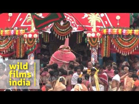 Idols of deities carrying inside the chariot for Rath Yatra - Puri