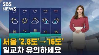 [날씨] 서울 '2.8도'→'16도'…일교차 유의하세요…