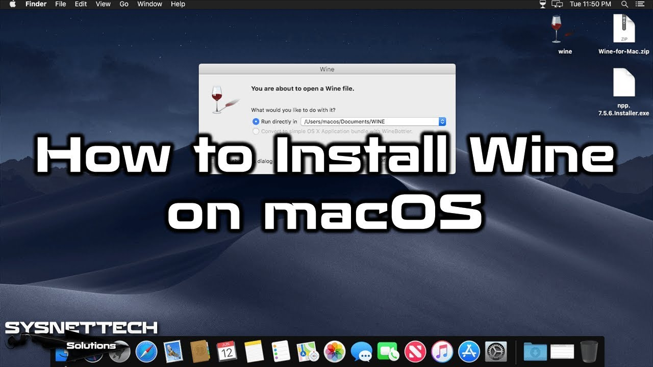 ✅ how to install wine on macos mojave 10.14 | run windows apps on