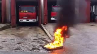 видео Эффективные первичные средства пожаротушения – ликвидация очага возгорания