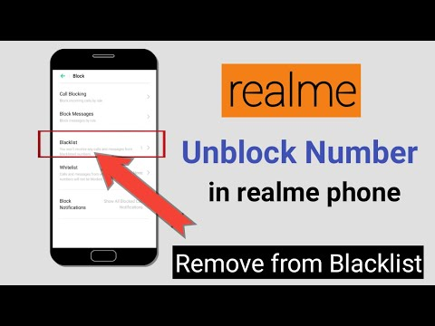 Realme device par number unblock kaise kare   How to unblock mobile no in realme  