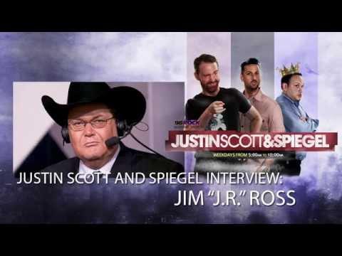"""Justin Scott and Spiegel Interview WWE Hall Of Famer Jim """"JR"""" Ross"""