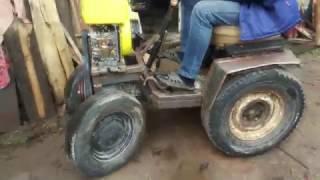 Самодельный минитрактор с дизельного двигателя от мотоблока . Сделай сам минитрактор. №3