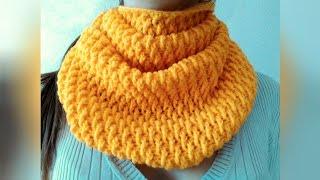 Шарф крючком, для начинающих. How to crochet a scarf