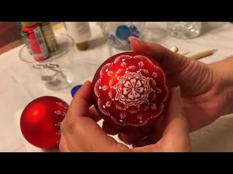Tutorial Red Glass Mandala Christmas Ornament By Gitka Schmidtova
