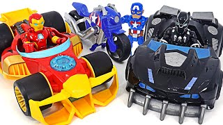 Iron Man Speedster, Black Panther Road Racer and Captain Victory Racer! Run!   DuDuPopTOY