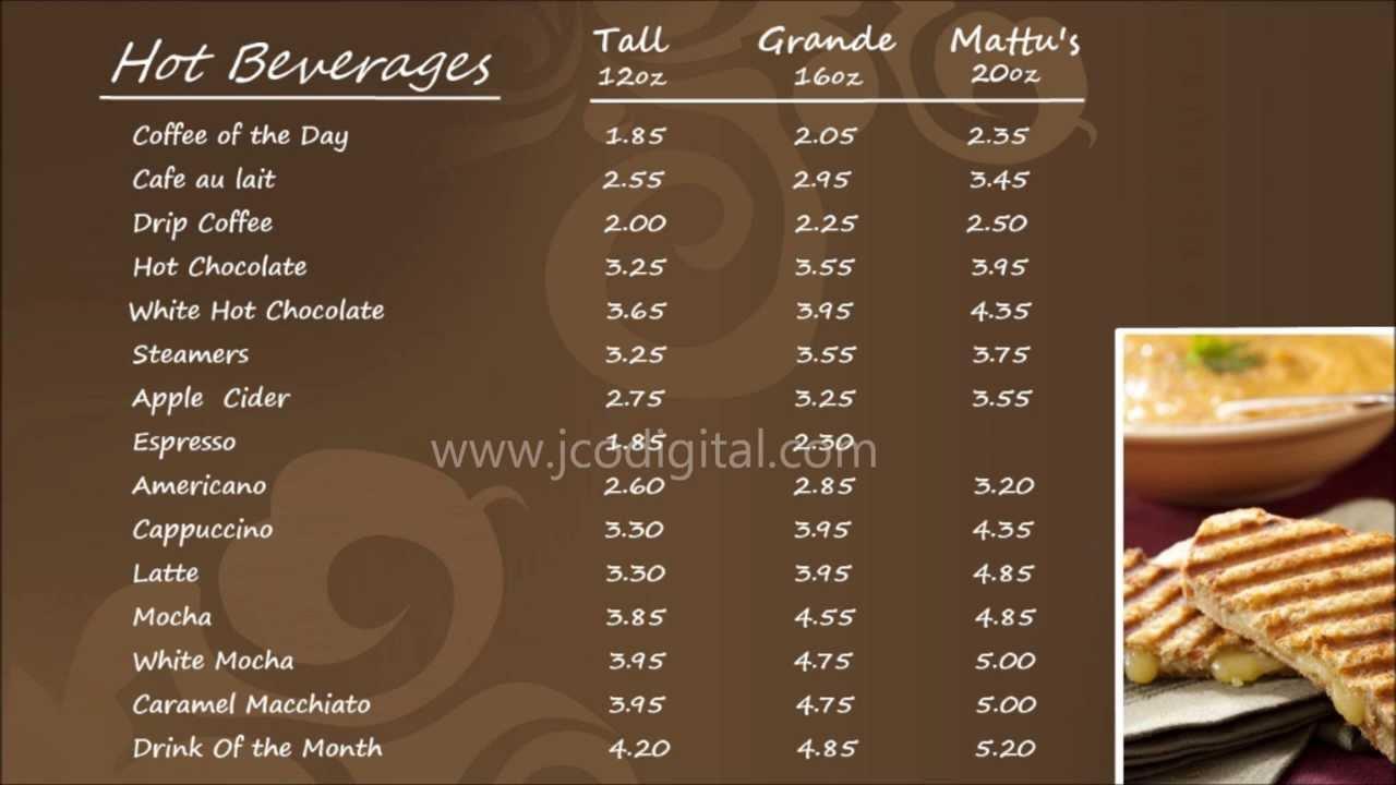 Mattus Coffee Digital Menu Boards 5 YouTube