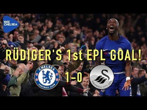 RÜDIGER SECURES WIN! || CHELSEA 1-0 SWANSEA || CONTE SENT OFF!!