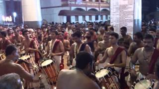 Panchari melam Arangettam @ Cochin Thirumala Devaswom on 9th December 2012
