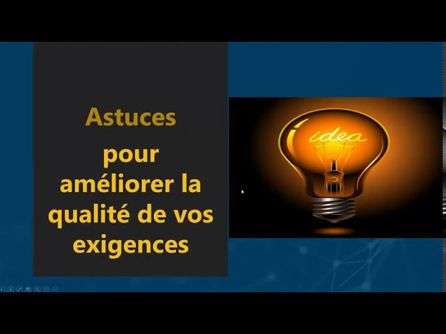 Webinar in French: Introduction à l'analyse de qualité des exigences
