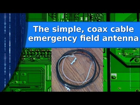 Ham Radio – The simple coax cable emergency prepper antenna.
