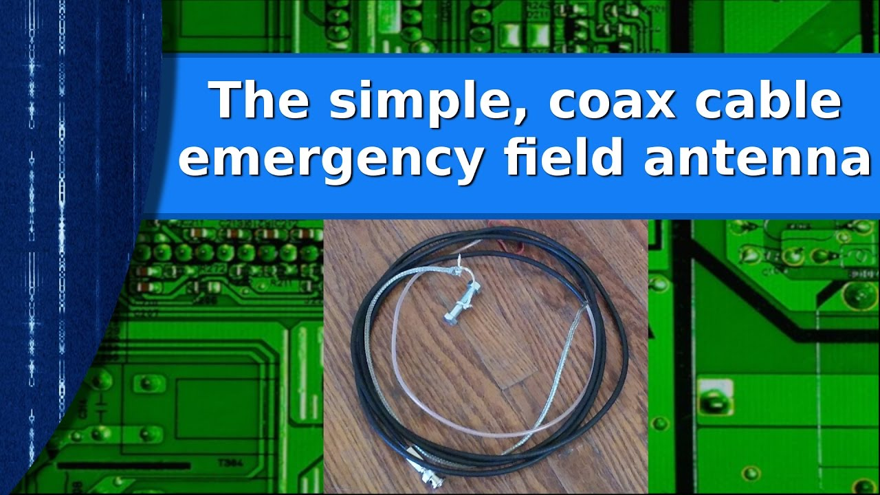 Ham Radio - The simple coax cable emergency prepper antenna