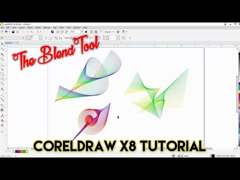 Creative Use of Blend Tool | CorelDraw X8 Tutorial | The Teacher