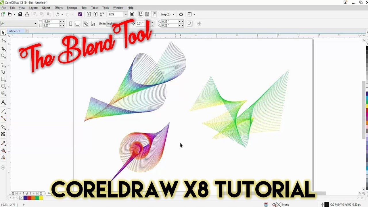 Creative Use Of Blend Tool Coreldraw X8 Tutorial The