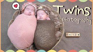 【寫真紀錄】雙胞胎姊妹超萌寫真💛 Newborn Twins Photography │ DearBaby專業親子攝影