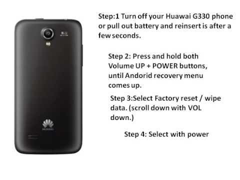 Huawei G330 Hard factory reset
