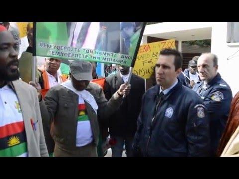BIAFRANS In Greece Protest on Free Nnamdi Kanu Free Biafra Buhari`