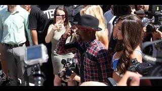 FLOYD MAYWEATHER MAKES SPECTACULAR SUPERFLY GRAND ARRIVAL / MAYWEATHER v McGREGOR