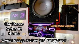 Using a Car Stereo at Home - 2 year actual usage review (setup with subwoofer 4 Speakers and 2 Amps)