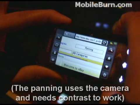 Samsung M800 Instinct demo at CTIA 2008
