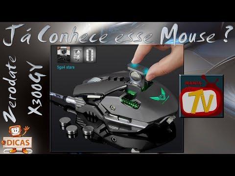 ZERODATE X300GY - Gaming Mouse com DPI ajustável - Com fio