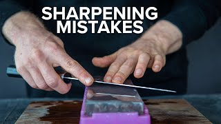 Whetstone Sharpening Mistakes that Most Beginners Make