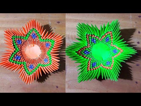 Flower Bowl   Bowl   Dish   How to make a Paper Bowl