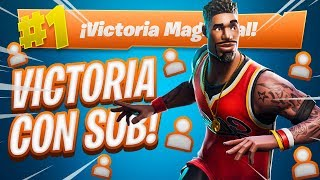 I WIN WITH LEBRON JAMES' NEW SKIN AND A SUB! FORTNITE: Battle Royale