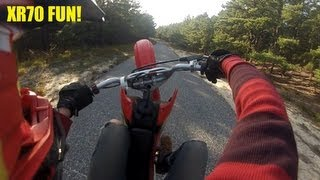 Honda xr70 wheelies and more!