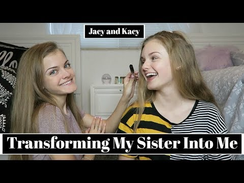 Transforming My Sister Into Me Challenge ~ Jacy and Kacy