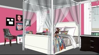 Monster High Doll Display - Kittiesmama, Bedroom For Emma