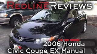 2006 Honda Civic Coupe EX Manual, Review, Walkaround, Start Up, Test Drive