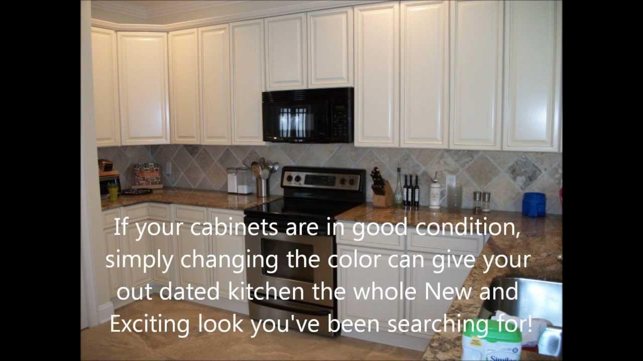 Kitchen Cabinet Refinishing - Jacksonville, Fl. - YouTube