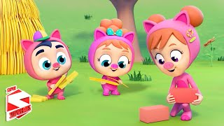 Three Little Pigs Story | Bedtime Stories for Kids | Pretend and Play | Nursery Rhymes - Kids Tv