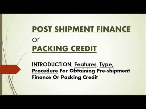 POST SHIPMENT FINANCE | FULL NOTES | EXPORT FINANCE | M.COM