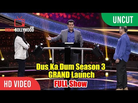 UNCUT - Dus Ka Dum Season 3 GRAND Launch | Full HD Video | Salman Khan